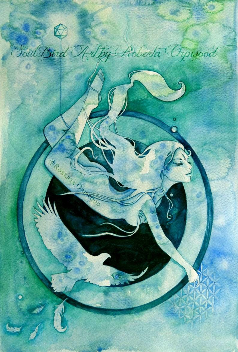 Scorpio Zodiac Goddess Art Print / A4 image 1