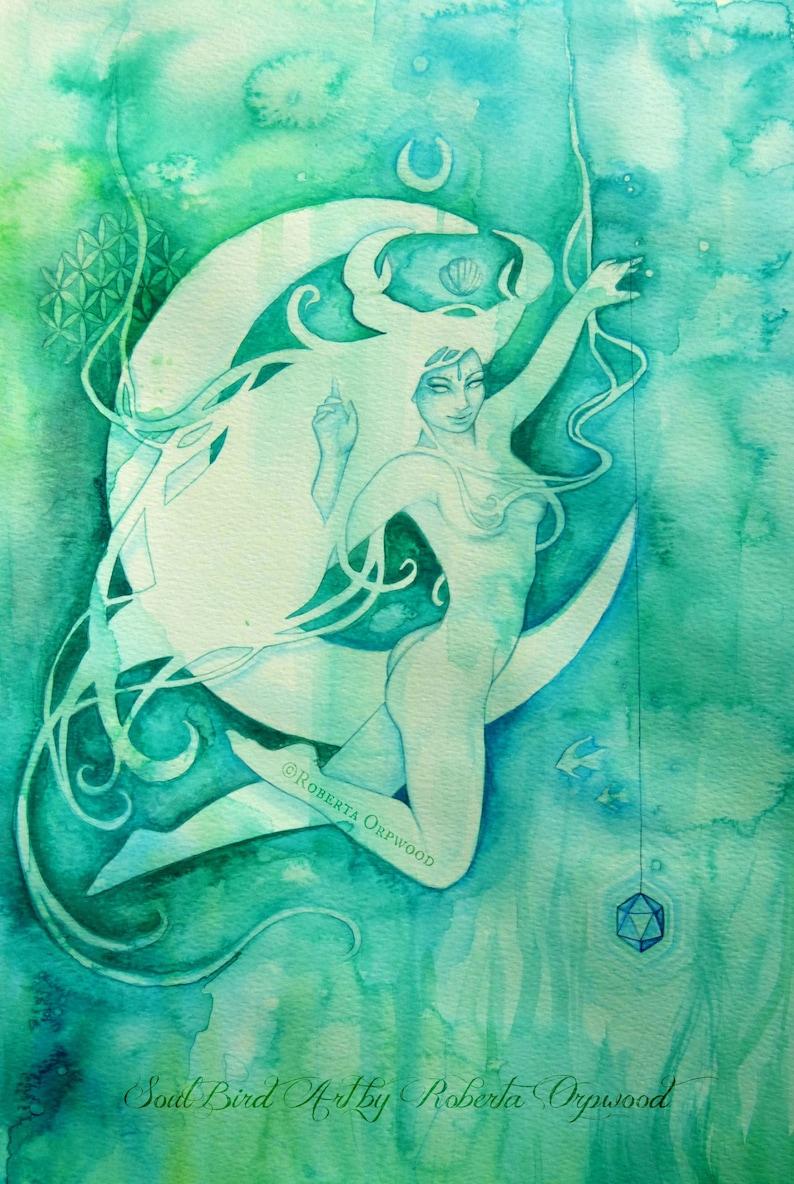 Cancer Zodiac Goddess Art Print / A4 image 1