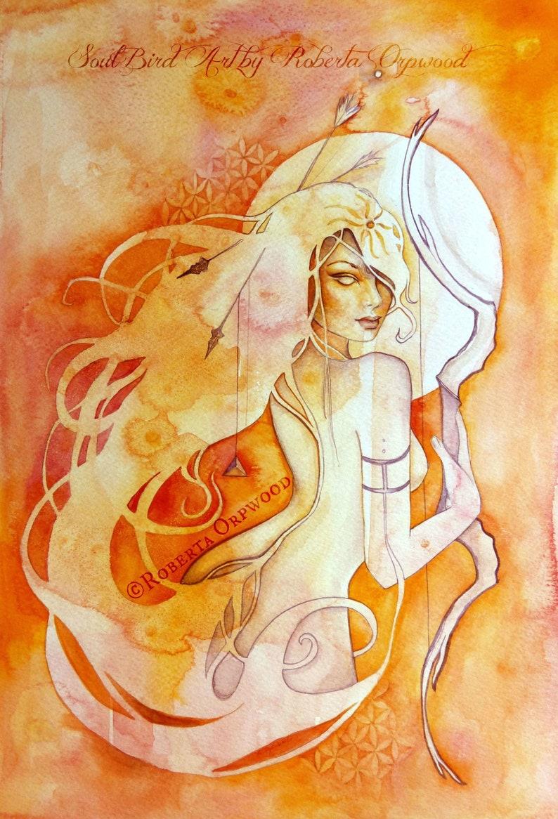 Sagittarius Zodiac Goddess Art Print / A4 image 1
