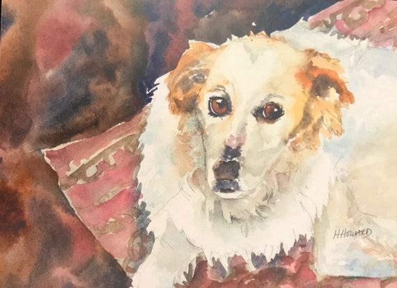Australian shepard painting Custom dog portrait Shepard poster Dog poster Custom dog painting Custom watercolor dog portrait