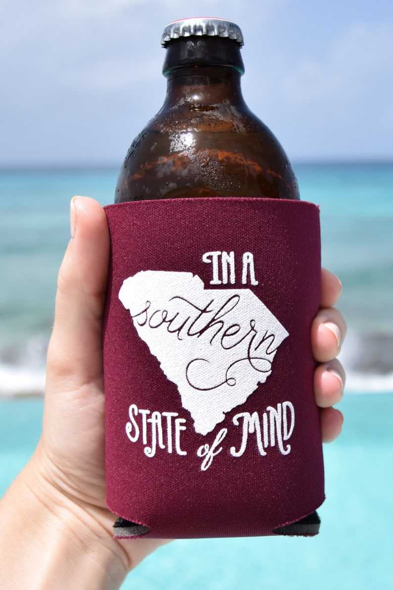 South Carolina Southern State of Mind Can Cooler Beer Cozy