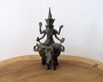 Vishnu Statue.Thai Iron Cast Vishnu sculpture.