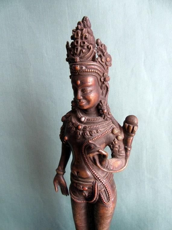 3 CM Tibet buddhism Pure Bronze Art Sculpture Skull Amulet Figurines Statues