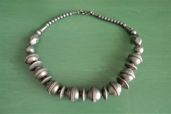 India tribal silver necklace