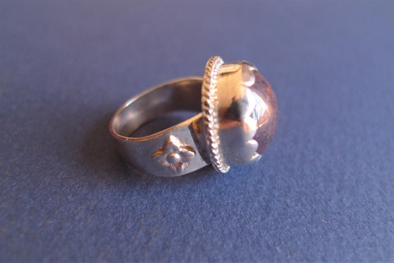 Silver ring with ruby from India - image 2