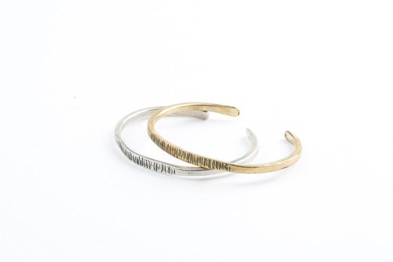 924806ed2fc Unisex Solid silver cuff bracelet sterling silver 925 | Etsy