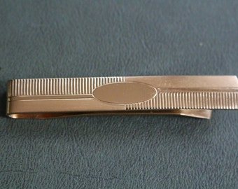 Free gift packaging Simple but elegant with great patina and copper color Coppered brass basket weave design tie bar