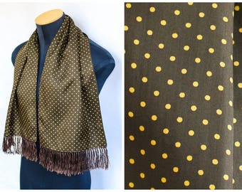 Vintage 1950's Silk Opera Scarf / Tuxedo Scarf / Men's vintage Scarf / Valentine's Day gift
