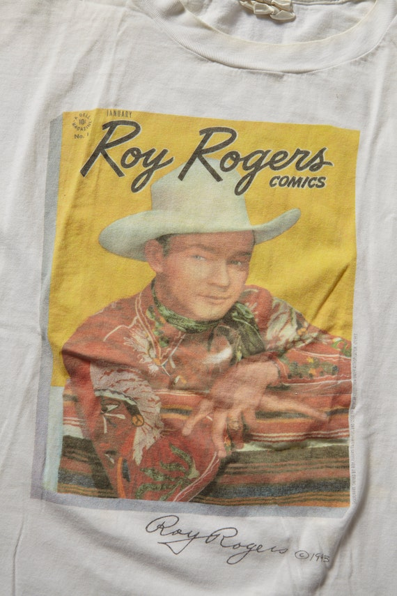 Sale ROY ROGERS Comics Signature  T-Shirt  Vintage