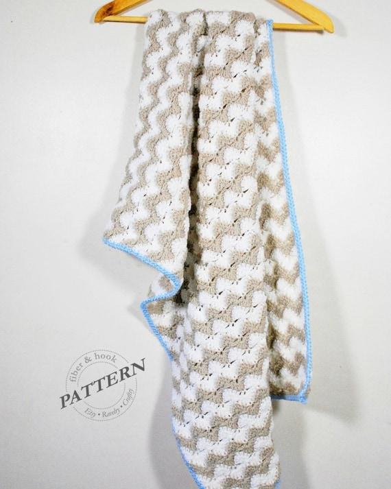 Crochet Pattern Crochet Chevron Blanket Pattern Baby Etsy