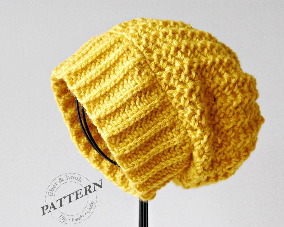 CROCHET PATTERN Boho Slouchy Beanie Crochet Slouch Hat  8bf50bb3ead