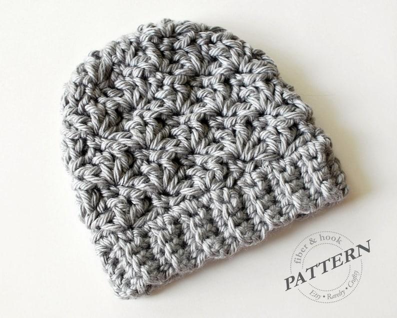 CROCHET PATTERN Newcastle Chunky Beanie Chunky Hat Pattern  7f56515ea50