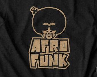 Afro Funk 70s T shirt tops and tees t-shirts t shirts| Free Shipping