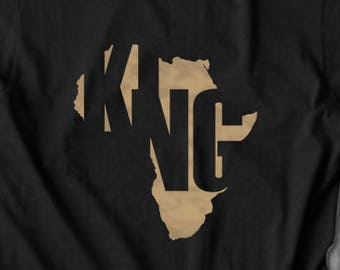 King Africa T shirt black pride tops and tees t-shirts t shirts| Free Shipping