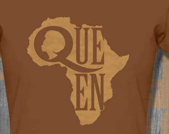 African Queen T shirt T shirt tops and tees t-shirts t shirts afrocentric| Free Shipping