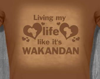 Living Wakandan T shirt tops and tees t-shirts t shirts| Free Shipping