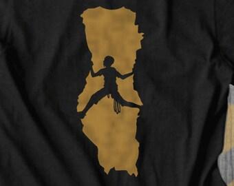Rock Climbing Bouldering T shirt tops and tees t-shirts t shirts| Free Shipping