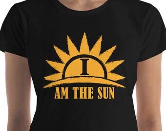 I Am the Sun Women's short sleeve t-shirt tops and tees