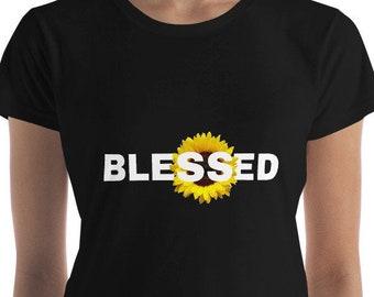 Seligen Shirt - inspirierende Frau Geschenke Shirts mit Sprüchen Seligen Mama Shirt gesegnet T-shirts Mama Leben Shirt dankbar Mama Shirt Tha