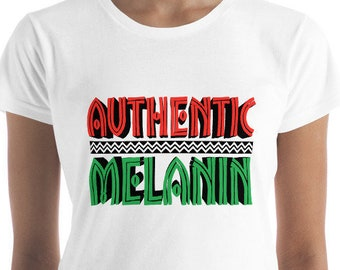 Authentic Melanin Women's short sleeve t-shirt tops and tees