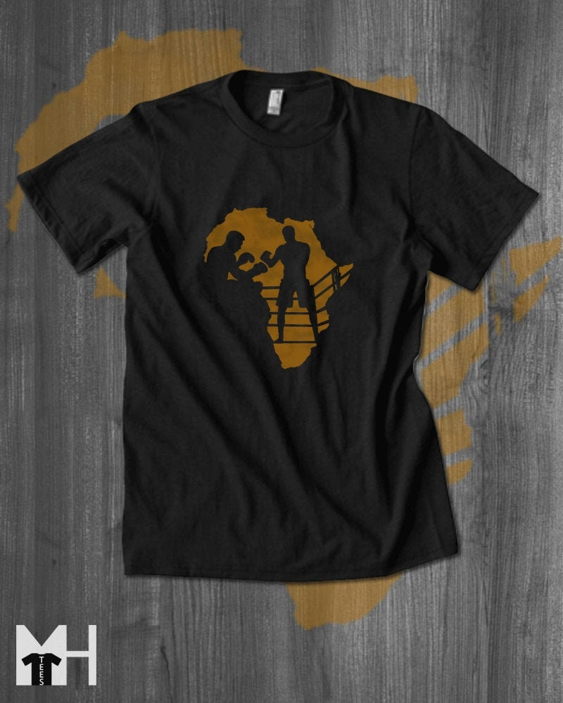 Boxing Legend T-shirt Muhammad Ali Joe Frazier Tshirt Mens Africa T Shirt Africa Men Clothing Fathers Day Black History African Clothing Unisex Tshirt