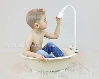 Vasca Da Bagno Neonato : Reale non digitale vasca prop neonato di neonato etsy