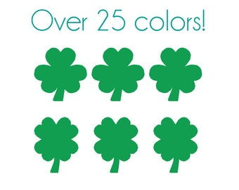 Shamrock Nail Decals - Vinyl, Custom Choice of Color