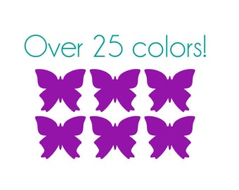 Butterfly Nail Decals - Vinyl, Custom Choice of Color