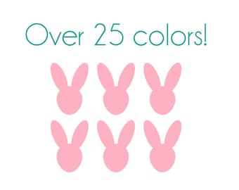 Bunny Nail Decals - Vinyl, Custom Choice of Color