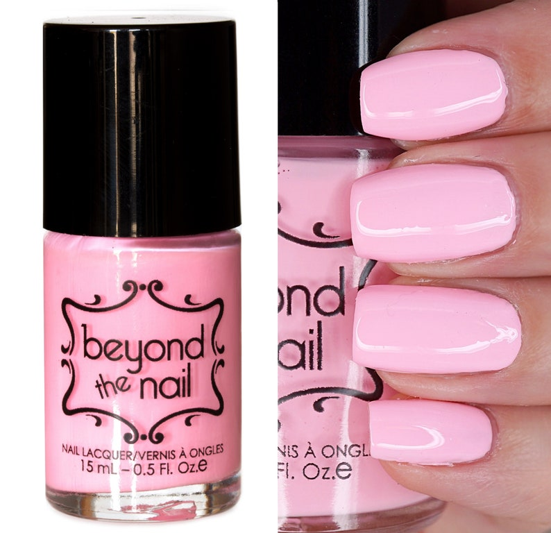 Blazing Blush Nail Polish Soft Neon UV Reactive | Etsy