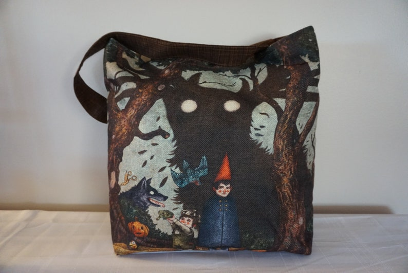 travel Tote tote bag,fantasy Beach Bag Red Riding Hood Dark forest Tote
