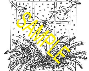 A Country Christmas Coloring Book