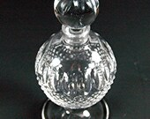 ON SALE Waterford Footed Perfume Bottle Colleen Pattern