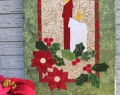 Candlelight Christmas Quilt Wall Hanging Pattern PDF