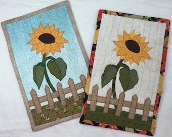 Sunflower Mug Rug Pattern