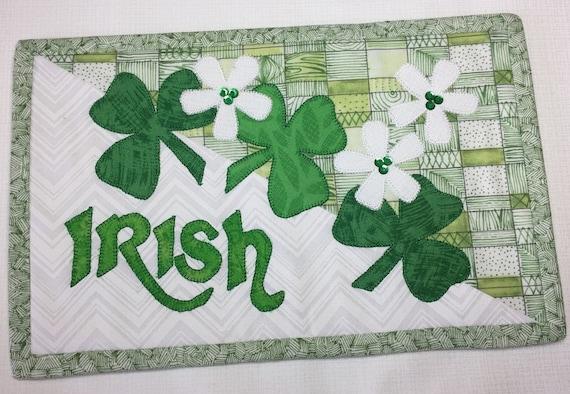 Irish Mug Rug PDF Quilt Pattern