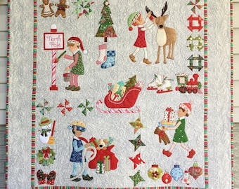 Christmas Elves Wall Hanging Quilt Pattern PDF