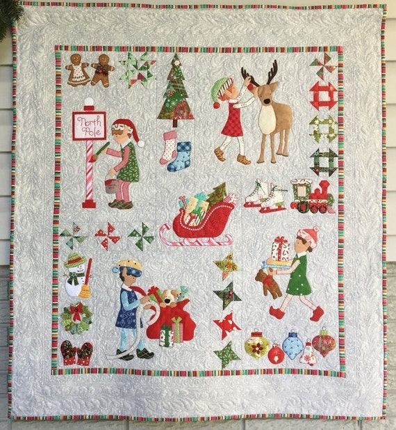 Christmas Elves Wall Hanging Quilt Pattern