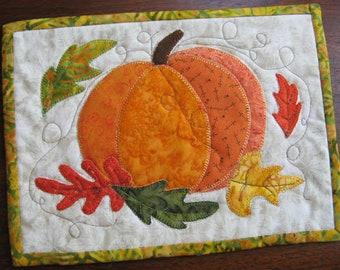 Autumn Pumpkin Mug Rug Pattern