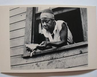 RELIEF CHECK, Scott's Run, West Virginia 1935 Original Vintage Postcard photo by Ben SHAHN