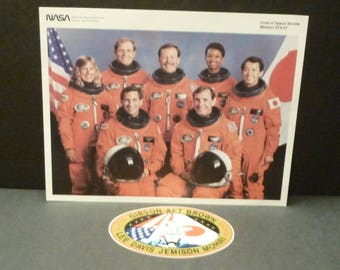 VENTE - Photo de la Nasa sts-47 Mission et Patch - jointure mission USA et Japon-1992
