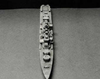 Hand carved Wood Naval War Ship Toy- old and interesting