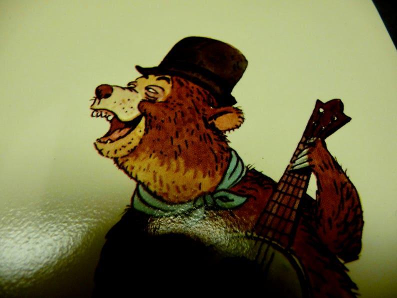 Marc Davis/'s Drawing for Walt Disney 1980/'s Bear Jamboree Wendell Brun SALE* Country Bear Post Card