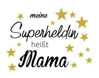 Ironing picture Superheroine Mama