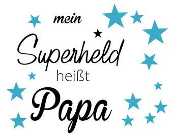 Ironing Picture Superhero Papa