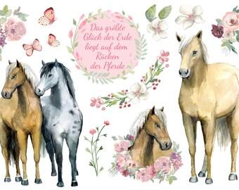 Ironing picture romantic horse set