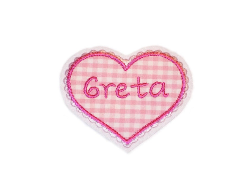 Heart Wish Name Embroidery Application Button image 0
