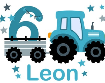 Ironing Picture Tractor Birthday Set