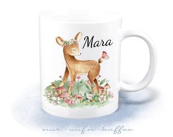 Cup - sweet deer - desired name