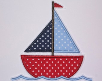 XL Sailboat Embroidery Application Patch
